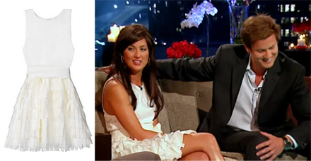 Bachelorette Jillian Harris - Alice & Olivia White Tank Dress