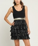 Forever21 Jive Ruffle Dress - Black