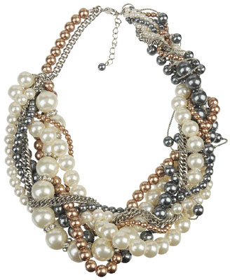 Chunky Twisted Pearl Necklace