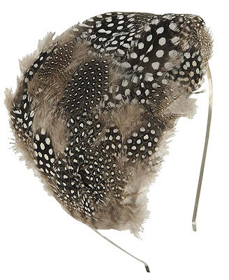 Exotic Spot Feather Headband - Forever21
