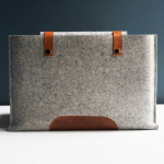 byde & Bell Wood felt laptop sleeve