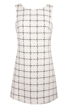 Charlotte Russe White Plaid Dress
