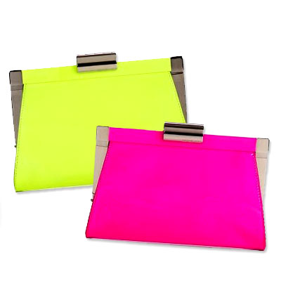 Michael Kors Neon Patent Leather Clutch