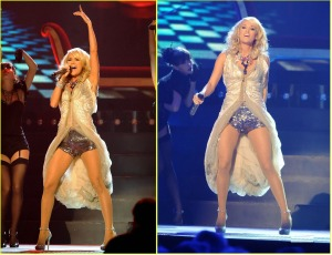 Carrie Underwood CMA Sequin Shorts